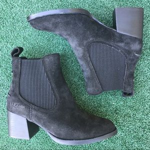 NWT UGG Faye Chelsea Boot Suede Black 7.5